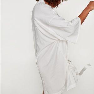 4bd903f0f2d Zara Dresses - NWT Zara White Asymmetric Polka Dot T Shirt Dress